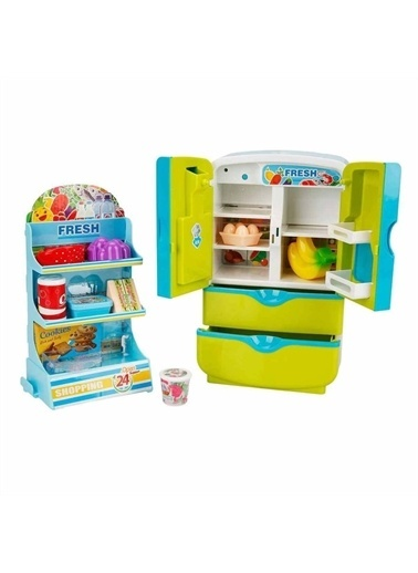 Sunman Sunman Little Chef Sesli ve Işıklı Buzdolabı Oyun Seti Renkli